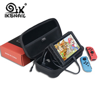 IKSNAIL Portable Hard Case For Nintend Switch Water resistent EVA Storage Charge Bag For Nitendo Switch NS Console Accessories
