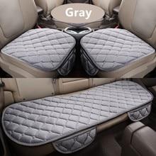 Soft Cotton Car Seat Cushion Front Back Covers Auto Chair Pad Mat Supplies 3PCS/Set
