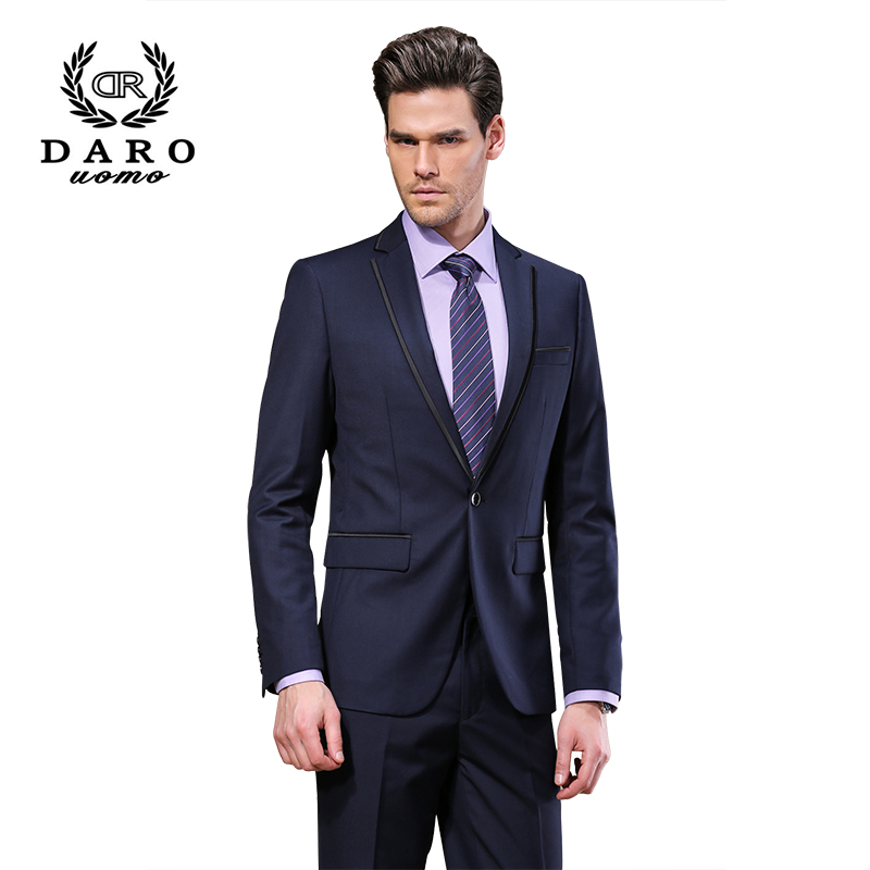 Brand DAROuomo Fashion Dress Blazer Men Suits Men Spring&Autumn Outerwear Business Wedding Party Suits DR8618
