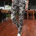 Nuevos 2015 Hombres Pantalones de Camuflaje Pitillo Pies Pantalones Marea de Los Hombres primavera y Otoño Los Hombres Del Ejército Militar Pantalones de Corea Del Camuflaje de Los Hombres pantalones