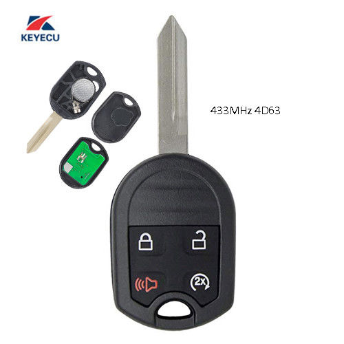 KEYECU 4 Button 315MHZ/433 <font><b>MHz</b></font> Car Remote Key Fob for Ford 2011-2016 F 150 250 350 <font><b>450</b></font> 20011-2015 Explorer FCC: CWTWB1U793 image