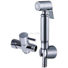 цена Brass Chrome Toilet Bidet Sprayer Shattaf Douche set  7/8