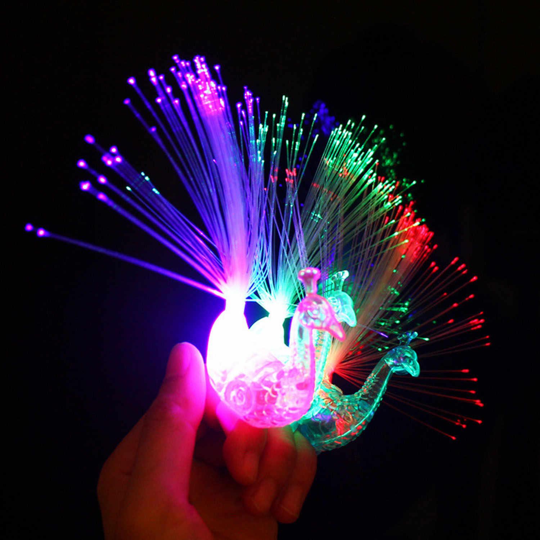 5 шт. Павлин светодио дный светящийся палец свет кольцевой вспышки игрушки концерт бар вечерние поставок Ассорти случайный Цвета