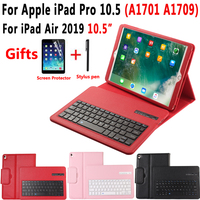 Detach Bluetooth Keyboard Case for Apple iPad Air 2019 10.5 inch High Quality Pu Leather Case Keyboard for iPad Pro 10.5 2017