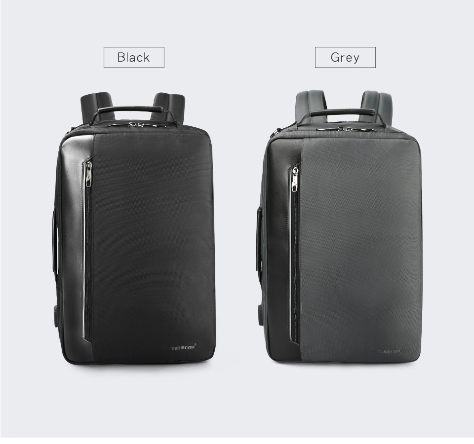 5.black dark grey backpackas