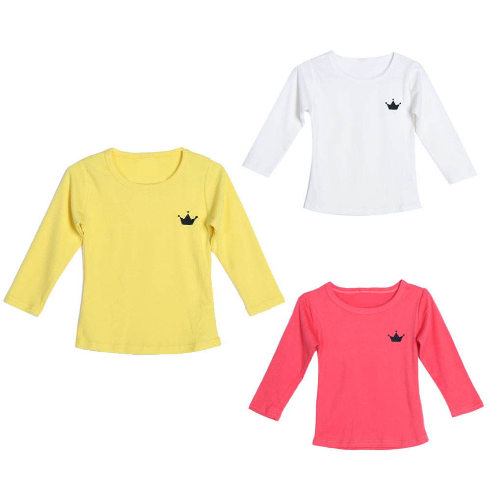 Childrens Cloth Girls Solid T-shirt Long Sleeve T-shirt For Autumn Spring Cotton Cloth Kids Girl Spring Clothing Outfit