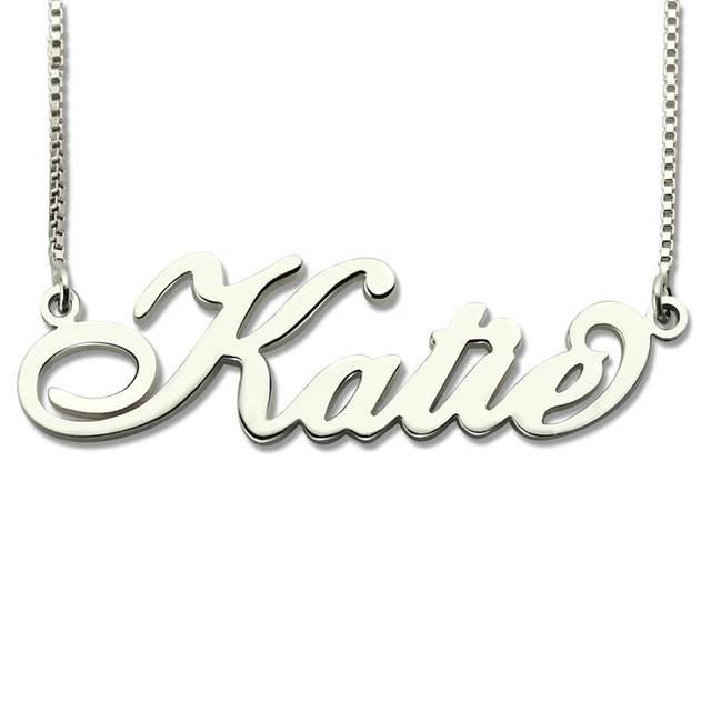 Großhandel Personalisierte Carrie Stil Name Halskette in Silber Nach ...
