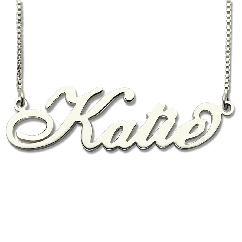 Wholesale Personalized Carrie Style Name Necklace in Silver