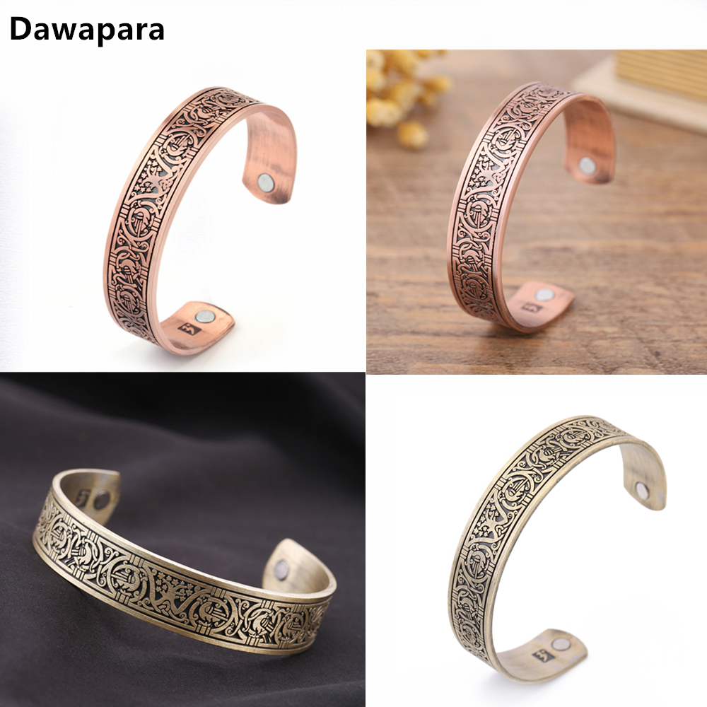 Dawapara Tree Of Life Magnetic Bangle Therapy Health Viking Cuff Wristband Pulseira Masculina