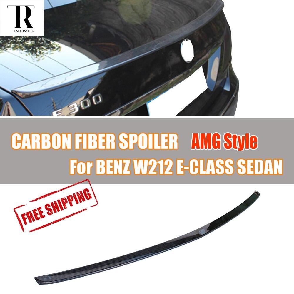Pour Mercedes Benz W212 Fiber De Carbone Aileron Arrière AMG Style pour E-Classe E200 E260 E300 E340 E63 Berline 4 Porte 2012-2016