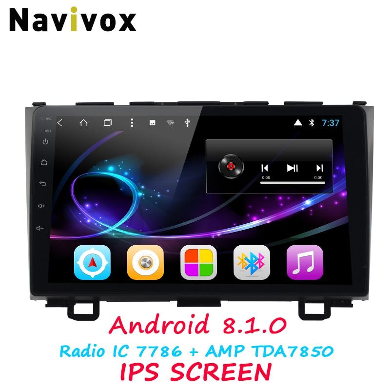 Navivox 2Din 9 HD Android 8.1 Octa Core GPS Navigation Lecteur RAM 2g De Voiture Stéréo De Voiture DVD Pour honda CR-V Voiture Multimédia Radio