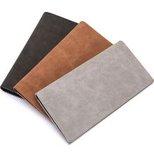 Vintage Solid Man Wallet Male Slim PU Leather Bifold Business Long Card Coin Purse Cartera Hombre Men 2019
