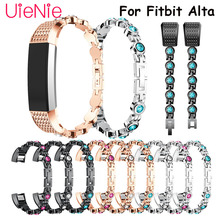 Elegant womens bracelet For Fitbit Alta smart watch Metal wristband HR Replacement accessories