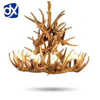 Brown Antlers Resin Chandelier Lamp Modern LED Antler Chandelier Lustre Chandeliers E14 Vintage Lights Novelty Lighting