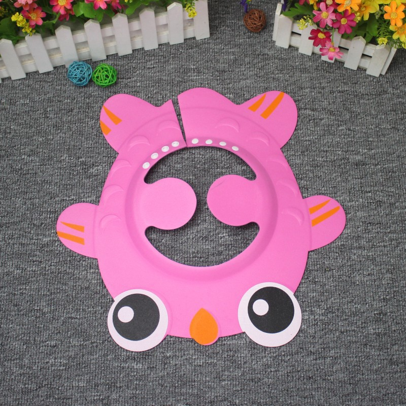 3 Colors New Infant Baby Thicken Resizable Fish Shower Cap Childrens Thicken Shower Shield Hat Baby Bath Safe Care For Kids