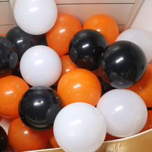 50pcs 12inch Party Balloons Garland For Wedding Baby Shower Graduation Kids Birthday Decor Black Orange Halloween Latex