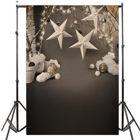5x7FT Vinyl Photography Background Christmas Star Computer Printed Custom Children Backdrops For Photo Studio Photobooth Props