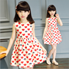 2017 Summer New Arrival Girls Princess Dress Heart Printed Moppets Cute Skirt With The Girldle Fashion