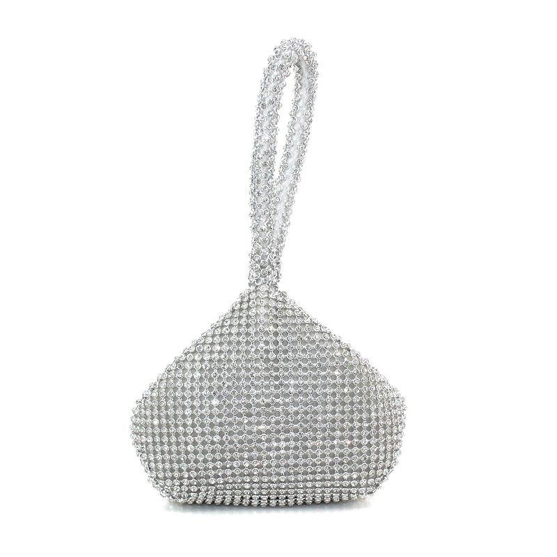 Hot 2017 Luxury Evening bag Slive Gold clutch bag Wedding clutch bags full diamond purse Women