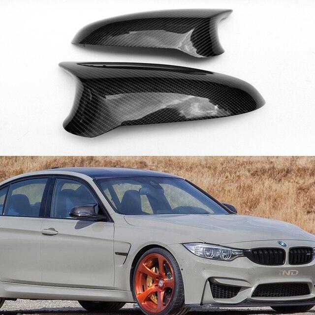 F80 M3 F82 M4 Carbon Fiber Replace Car Mirror Cover Cap Trim For Bmw