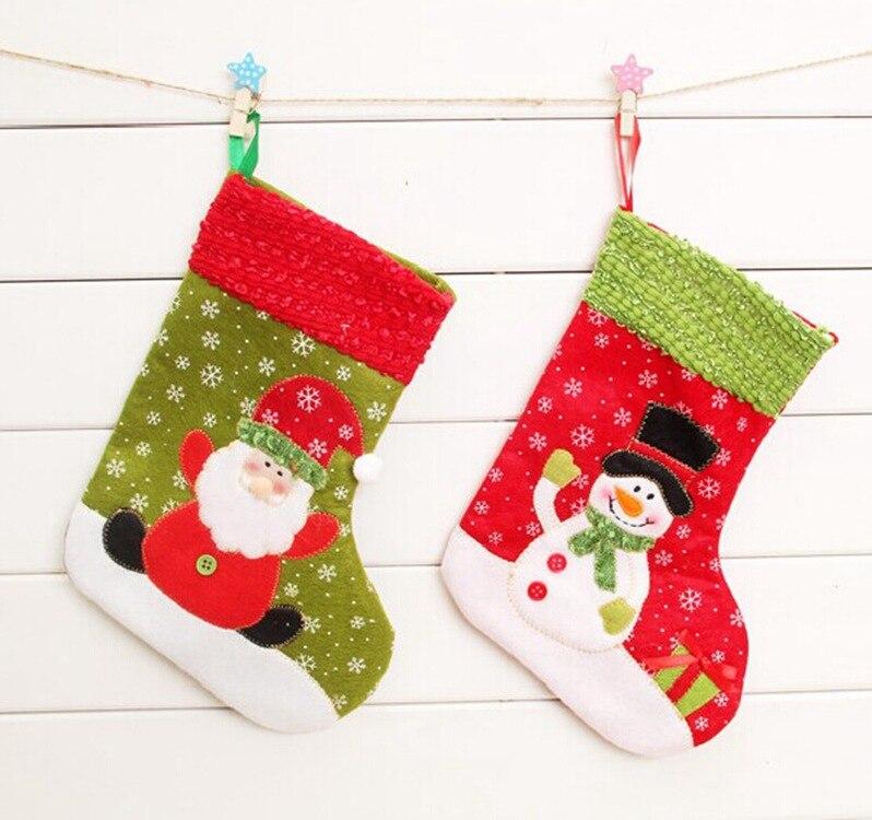 Kawaii Snow Christmas Stockings Gifts For Children
