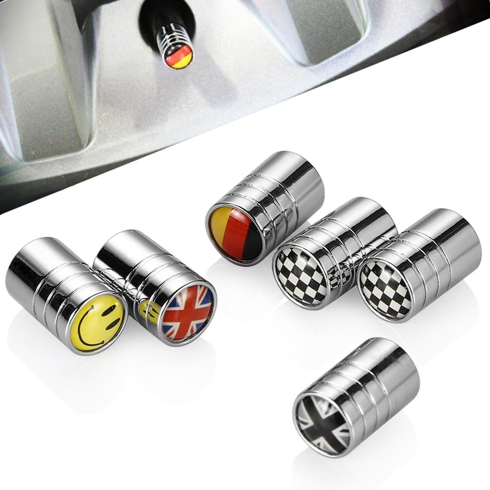4pcs Set Auto Accessories Wheel Tire Parts Valve Stem Caps