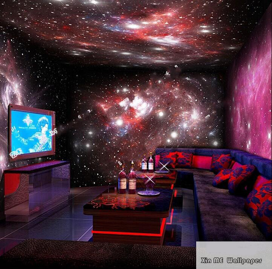 Any Size Custom Star Starry Night Sky Space 3D Wallpaper Mural Roll Hotel Restaurant Living Room Cafe Bar KTV Background Decor custom 3d stereo ceiling mural wallpaper beautiful starry sky landscape fresco hotel living room ceiling wallpaper home decor 3d