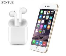 2 pcs TWS-I9 Ifans Gêmeos Baixo Estéreo Bluetooth Fones de Ouvido Fones De Ouvido Sem Fio fone de Ouvido Para O Iphone Andorid Com Microfone