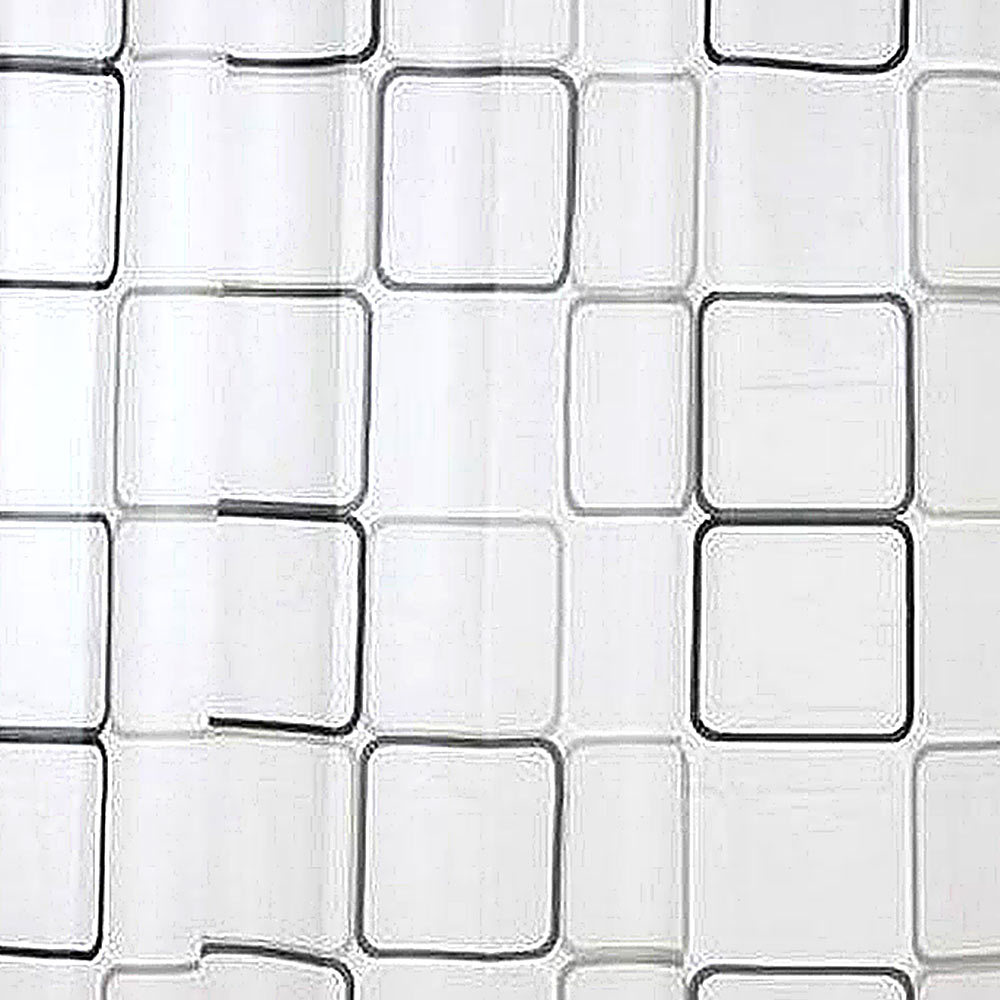 Fabric Shower Curtain Plain White All Sizes With Weighted Hem /& With Hooks Rings