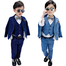 Costume Blazer Wedding-Suit-Set Host Party Paino Boys Formal Kids Children Outfits Pants