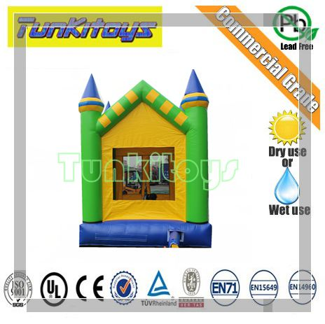 Outdoor Recreation 0 55mm PVC Inflatable font b bouncers b font for trampoline toys