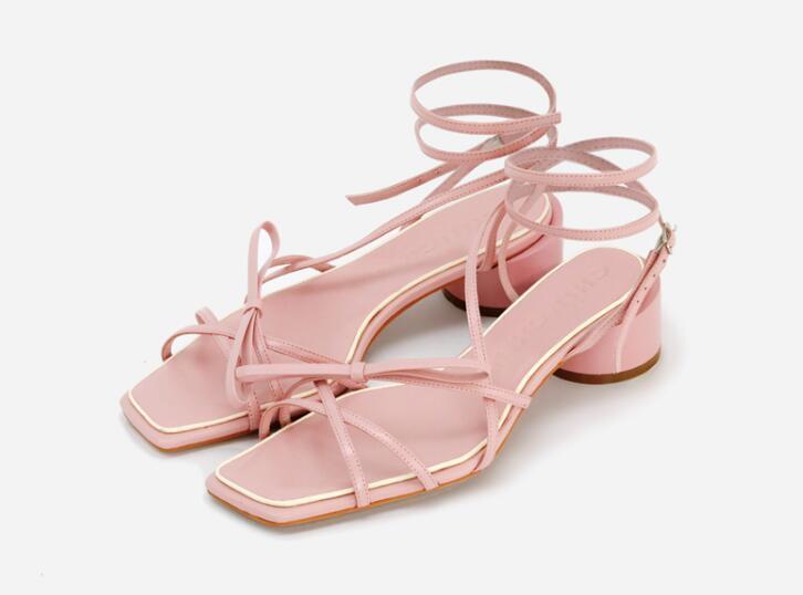 De Rojo Sandalias Blossom Zapatos Banda Moda Venta Flor Tacón hrstQd