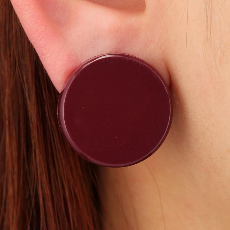 Улекс зеленый коричневый Цвет круглые серьги Мода Симпатичные серьги для Для женщин геометрический Brincos себе ювелирные изделия 5956
