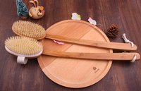 5pieceNew Bath Brush Back Rubs Long Handled Soft Bristle Wool Bath Brush Bath Flower Rubbing Towel