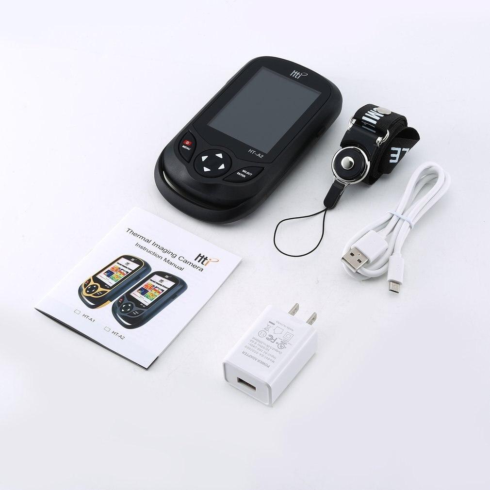 HT A2 3.2 polegada digital ir câmera de imagem térmica 0.3mp visão completa tft tela termômetro infravermelho câmera de imagem térmica detector - 6