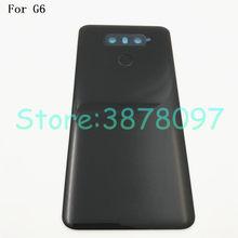 100% оригинальная 5,7 дюймовая задняя крышка для LG G6 крышка аккумулятора корпус Стекло для H870 H871 H872 H873 LS993 с сенсорным экраном и объективом каме...