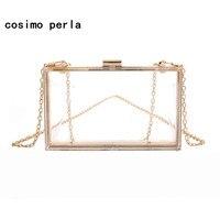 1bec493e7 Acrylic Clear Purses Transparent Boxed Clutch Bags PVC Hand Bag Women Party  Banquet Evening Bag Mini