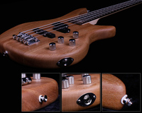 Minsine Chinese Variety Electric Bass Guitar 4 String Rosewood Elm Passive Closed Pickup High Quality