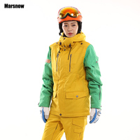 Newest High Quality Womens Snowboarding Jacket Winter Warm 30 Degrees Thiken Waterproof Windproof Compressed Ski Jacket