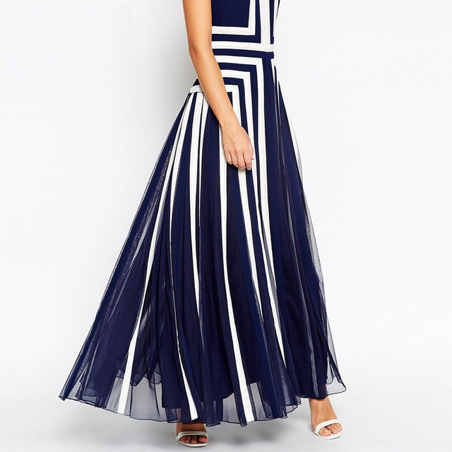 plus size dress xxxxl women mesh striped maxi dress chiffon long Patchwork tank dress summer TC19601010138
