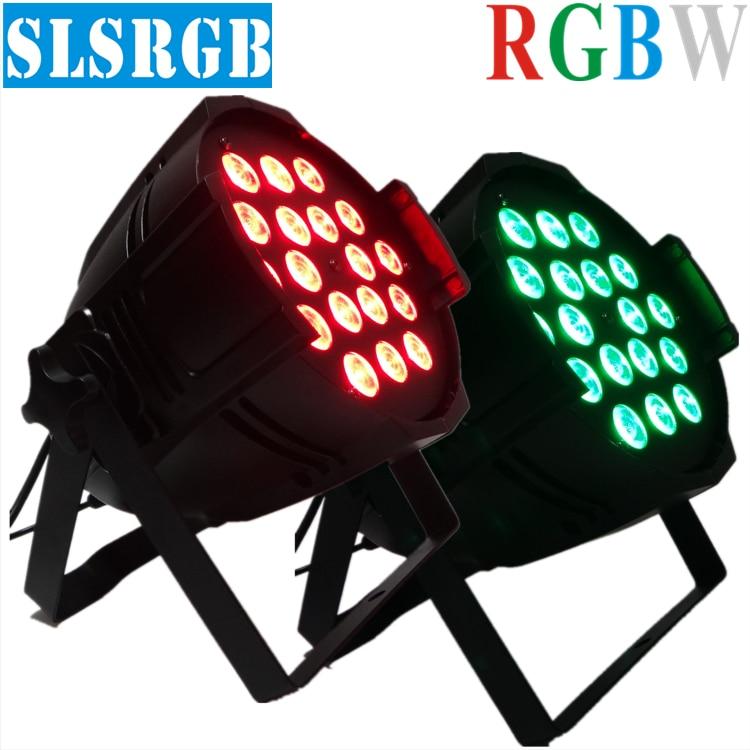 2pcs/lot, LED par 18x12W RGBW 4in1 Quad LED Par Can Par64 18pcs 12w quad led spotlight dj projector wash lighting stage light
