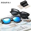 Polarized Sun Glasses UV400 Vintage Women Eyeglasses with Case Spectacles Alloy Brand Designer Driving Sunglasses