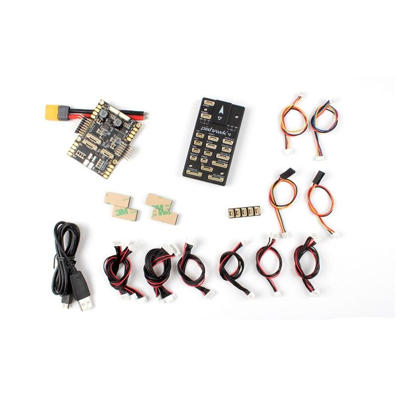 Holybro Pixhawk 4 de Control de vuelo UBLOX NEO-M8N módulo GPS PM07 de junta piloto automático kit
