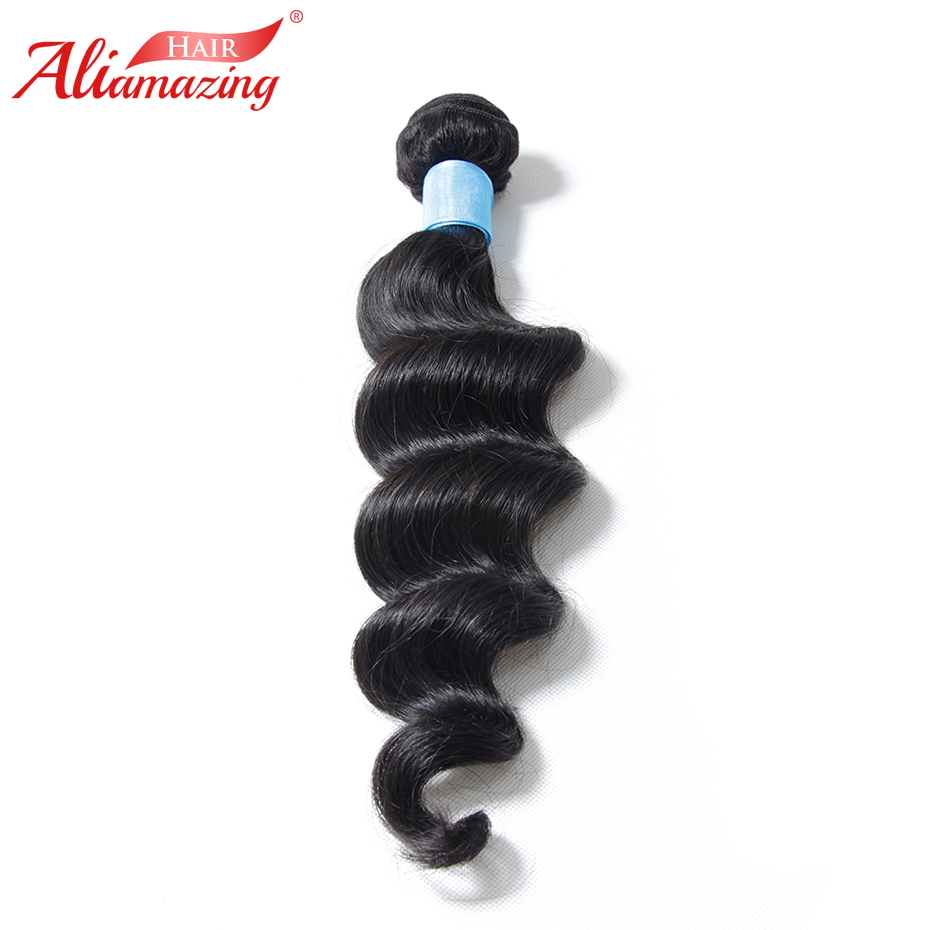 Ali Amazing Hair Loose Wave Bundles 3pcs/lot Brazilian Remy Human Hair Bundles Weave Extensions Natural Black #1B Free Shipping