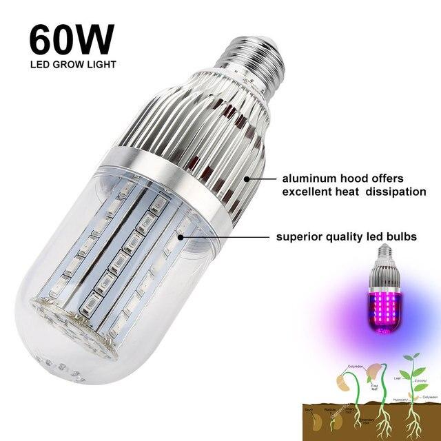 E27 Corn LED Grow Plant Light Bulb Full Spectrum Corn Fitolamp 28W/43W/54W/60W Phyto Lamp For Flowers Seedling Greenhouse Plants