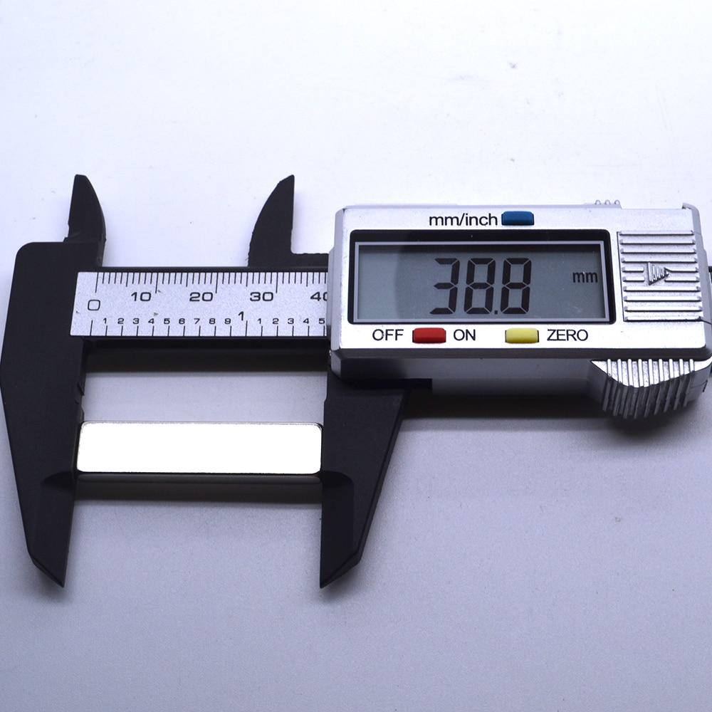 2-25pcs 60x10x4mm bar block rare earth neodymium permanent strong magnet N48
