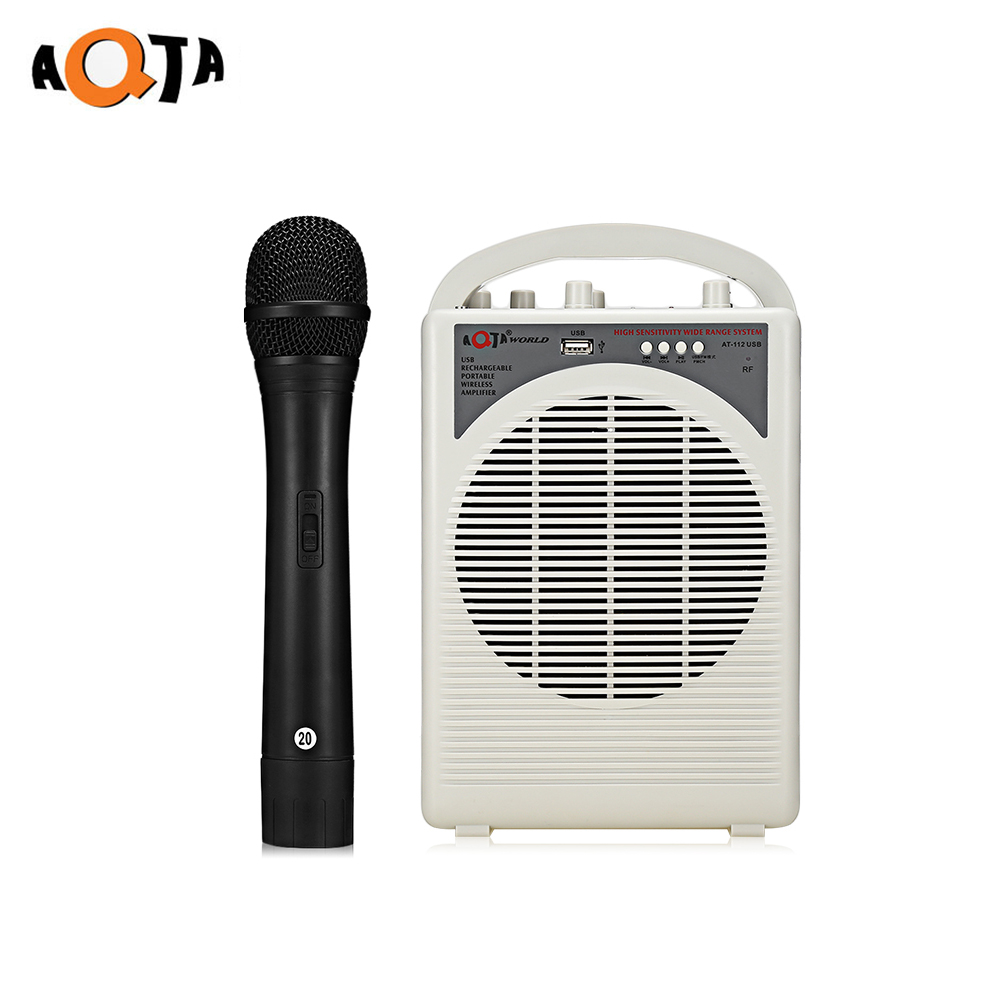aqta at 112usb portable voice amplifier wireless handheld microphone for guider teacher in. Black Bedroom Furniture Sets. Home Design Ideas