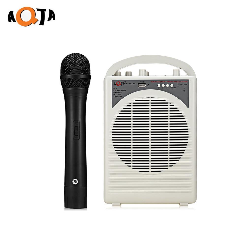 AQTA AT-112USB Portable Voice Amplifier Wireless Handheld Microphone for Guider TeacherAQTA AT-112USB Portable Voice Amplifier Wireless Handheld Microphone for Guider Teacher