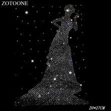 ZOTOONE Woman Wedding Dress Cyrkonie Rhinestones Crystal Clear Hotfix Rhinestone Applique for Clothes Decoration for Needlework anet a6 desktop 3d printer kit with metal acrylic frame