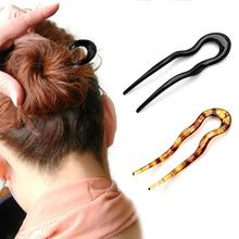 2019 New U Shape Hair Clips Grips Convenient Simple Plastic Forks Styling Tool Hairpins Newly Magic Bending Hairwear Decoration